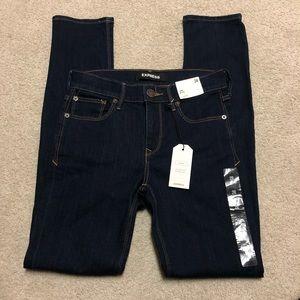 NEW Express Dark Skinny Stretch Jeans